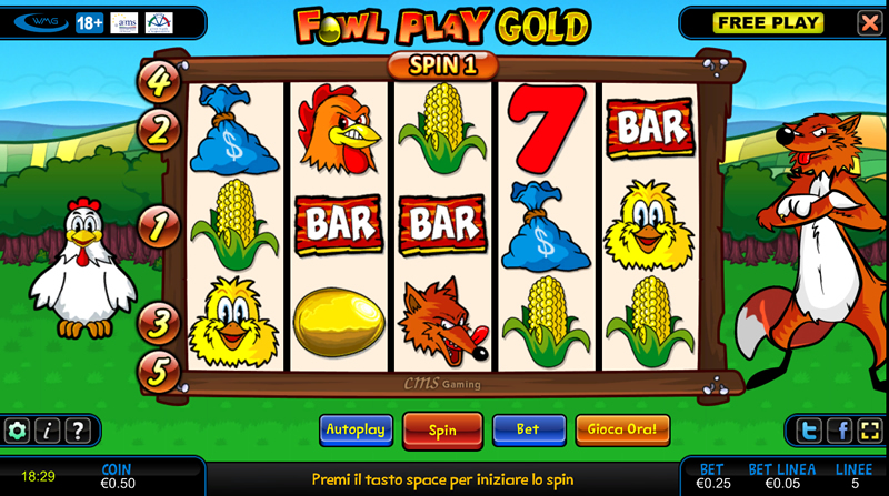Slot machine gratis gallina download